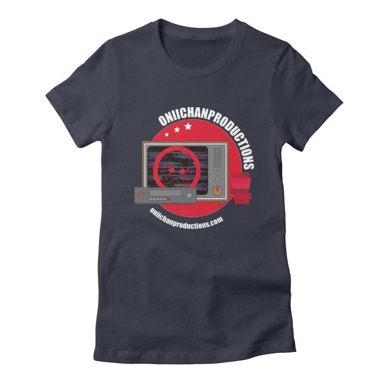 VHS TV Women's Fitted T-Shirt by OniiChan's Artist Shop