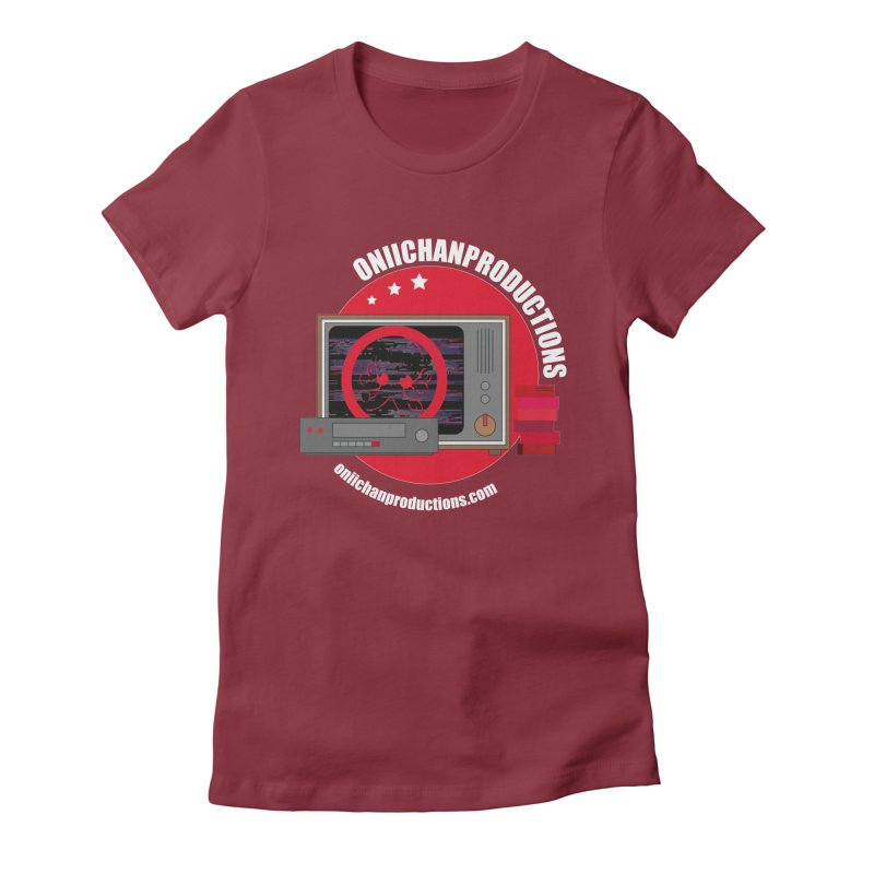 VHS TV Women's Fitted T-Shirt by OniiChan's Artist Shop