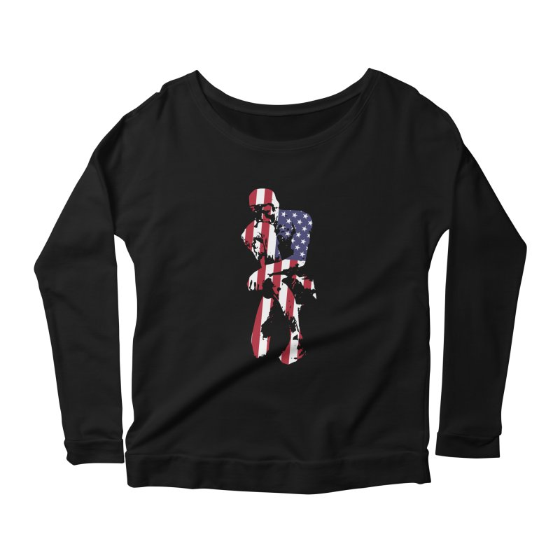 Thinking Knee Women's Scoop Neck Longsleeve T-Shirt by On the Gears