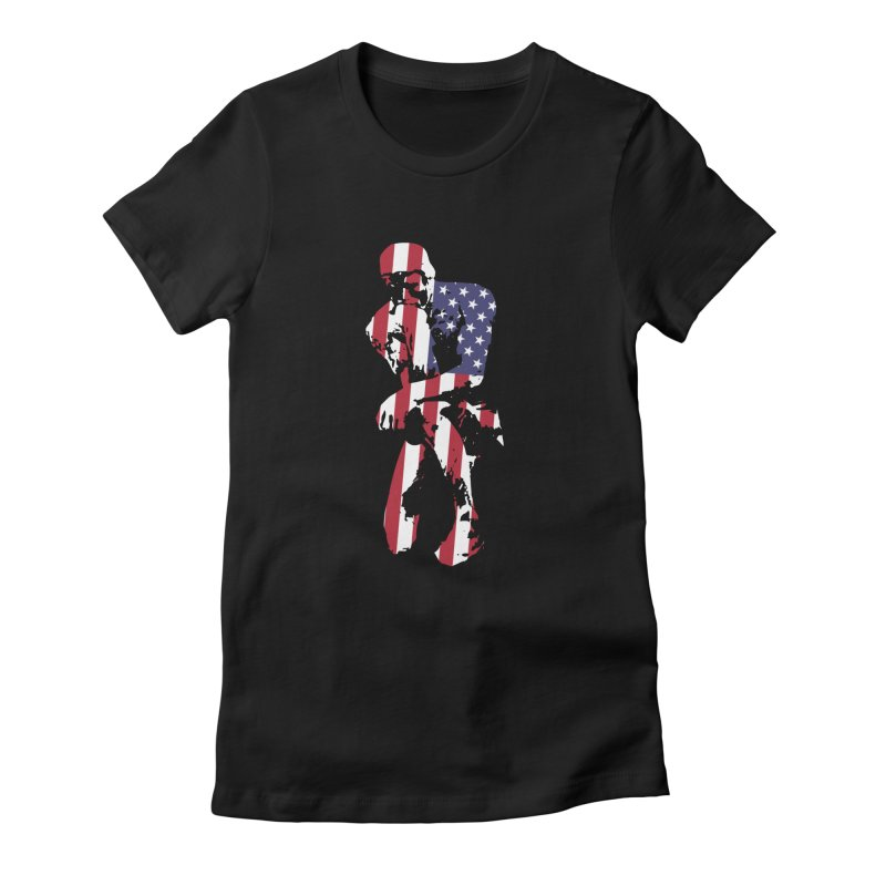 Thinking Knee Women's Fitted T-Shirt by On the Gears