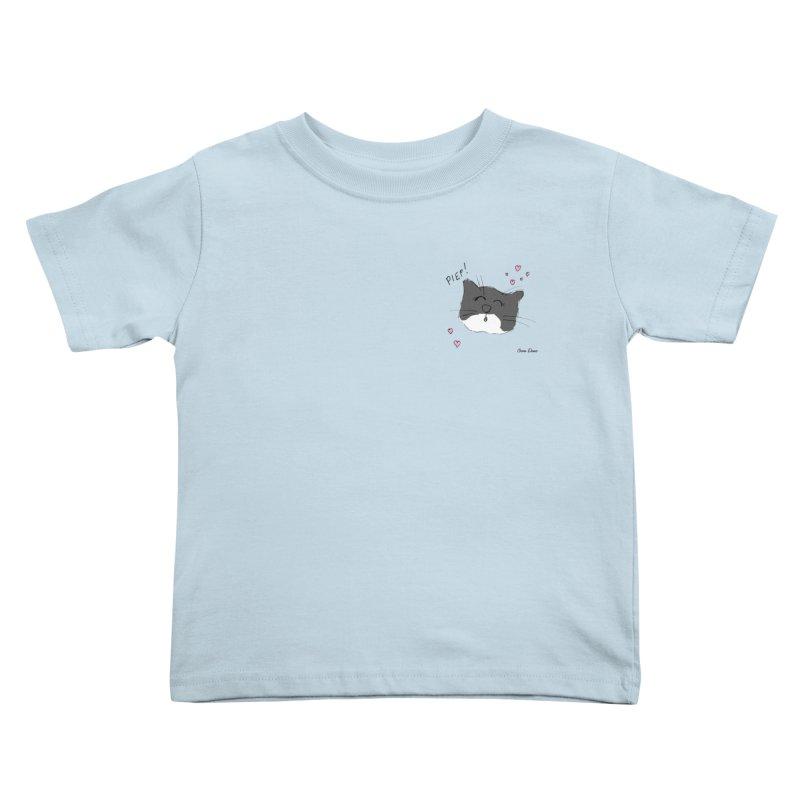 Piepie met hartjes Kids Toddler T-Shirt by Oom Dano's Winkeltje