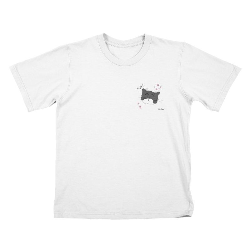 Piepie met hartjes Kids T-Shirt by Oom Dano's Winkeltje