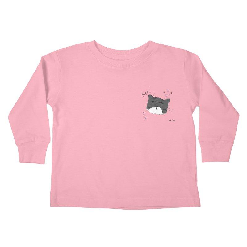 Piepie met hartjes Kids Toddler Longsleeve T-Shirt by Oom Dano's Winkeltje