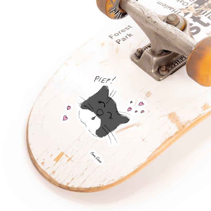 Piepie met hartjes Accessories Sticker by Oom Dano's Winkeltje