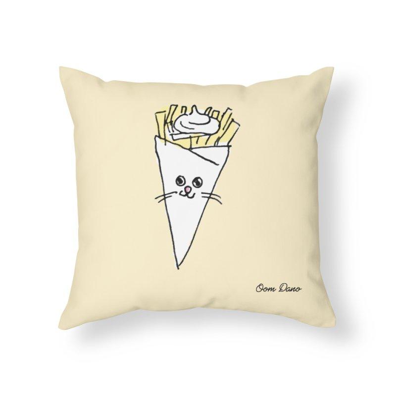 Piepie als schattepatatje Home Throw Pillow by Oom Dano's Winkeltje