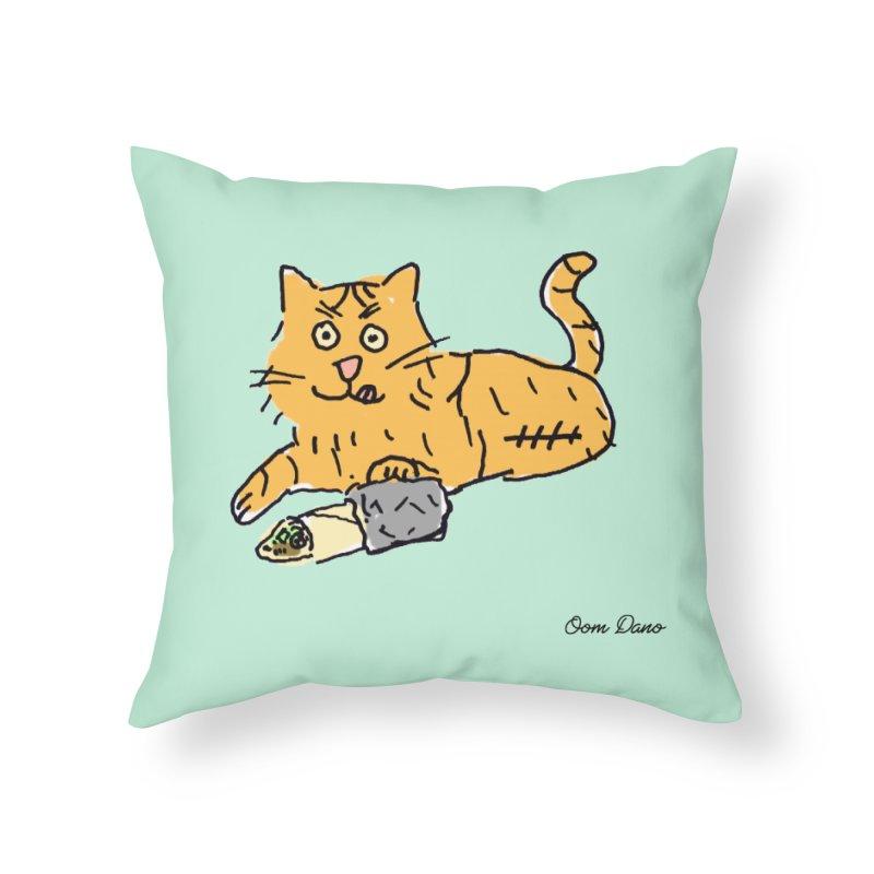 Driepoot Home Throw Pillow by Oom Dano's Winkeltje