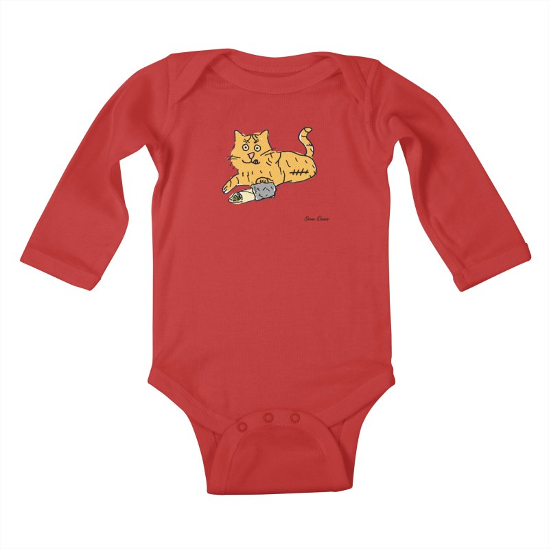 Driepoot Kids Baby Longsleeve Bodysuit by Oom Dano's Winkeltje