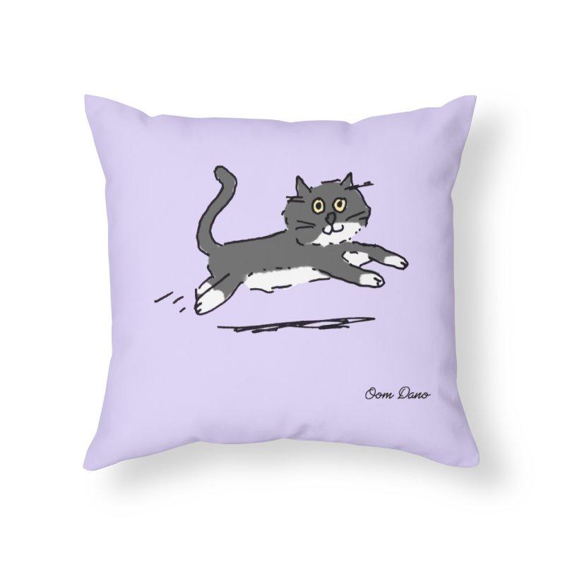 Piepie rent! Home Throw Pillow by Oom Dano's Winkeltje
