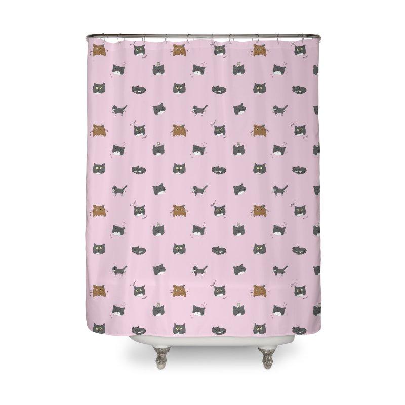 Hoofdjes Home Shower Curtain by Oom Dano's Winkeltje