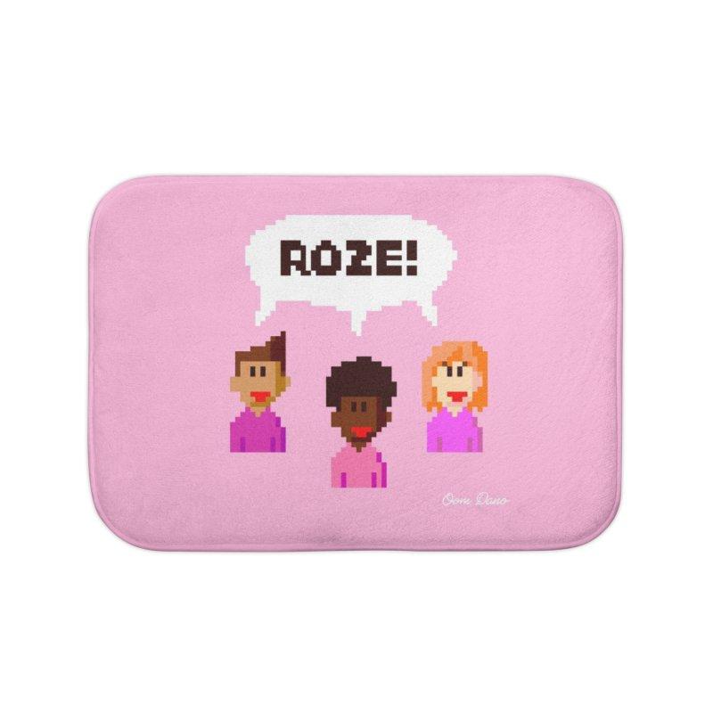 Roze! Home Bath Mat by Oom Dano's Winkeltje