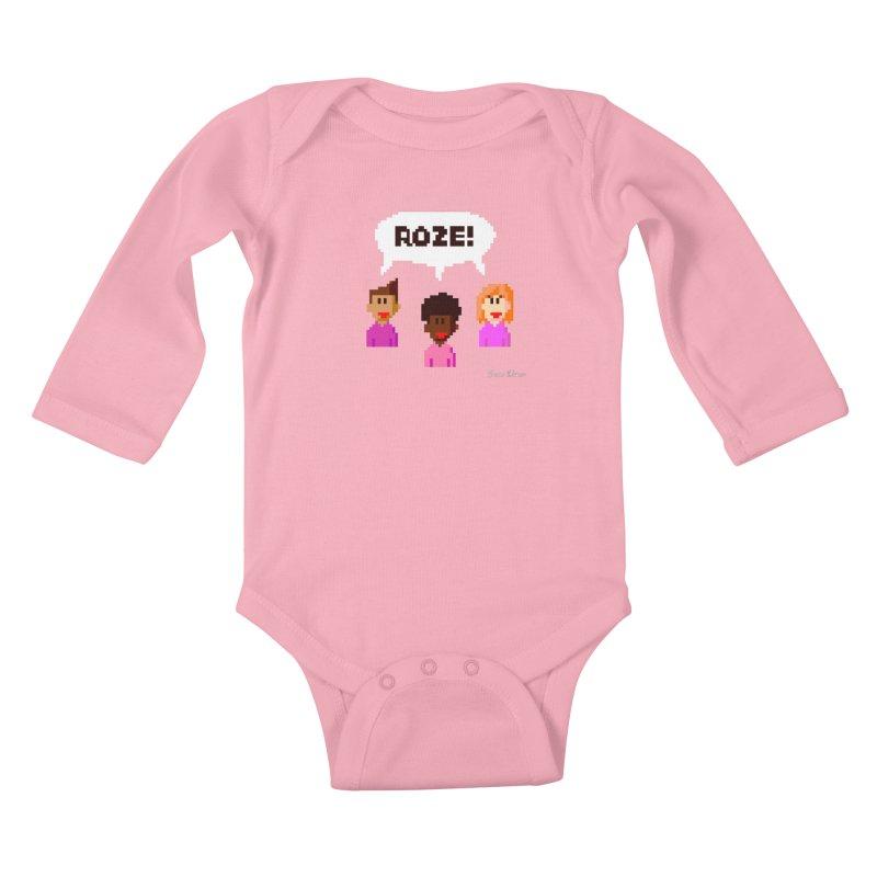 Roze! Kids Baby Longsleeve Bodysuit by Oom Dano's Winkeltje