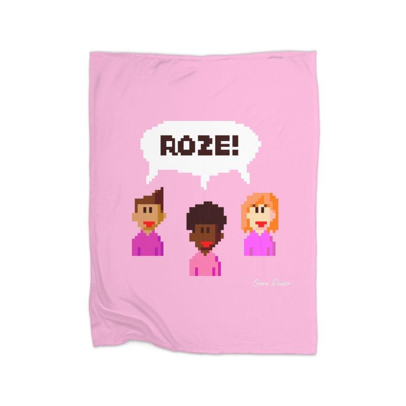 Roze! Home Blanket by Oom Dano's Winkeltje