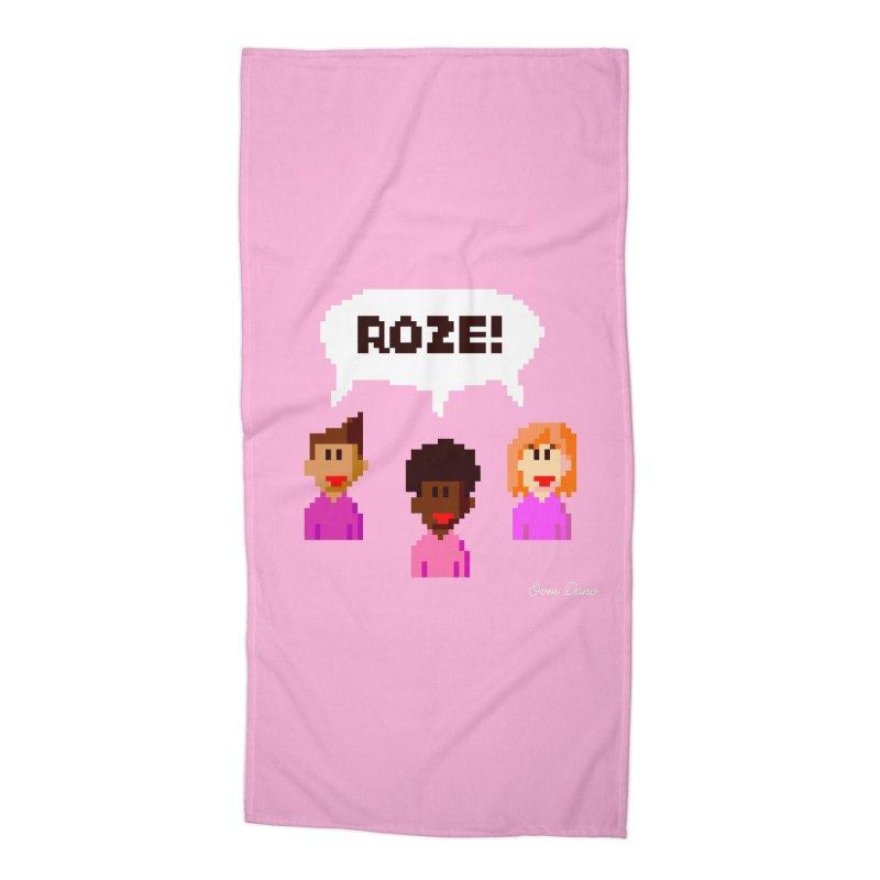 Roze! Accessories Beach Towel by Oom Dano's Winkeltje