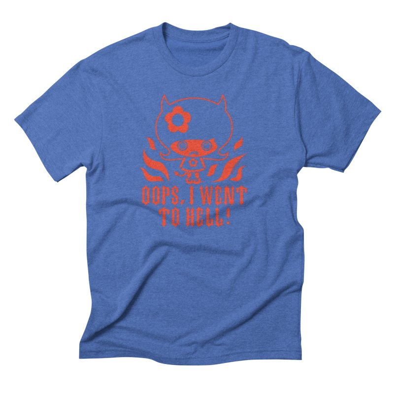 Oops, I Went To Hell (Red) Men's T-Shirt by Oopsy's Shop