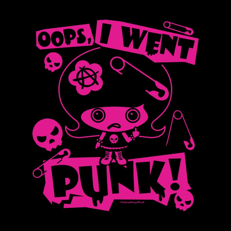 Oops, I Went Punk! (Pink) Men's T-Shirt by Oopsy's Shop