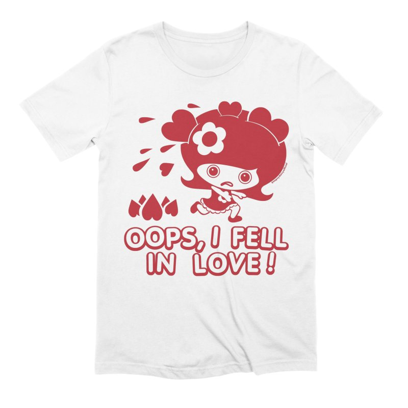 Oops, I Fell In Love (Red) Men's T-Shirt by Oopsy Daisy