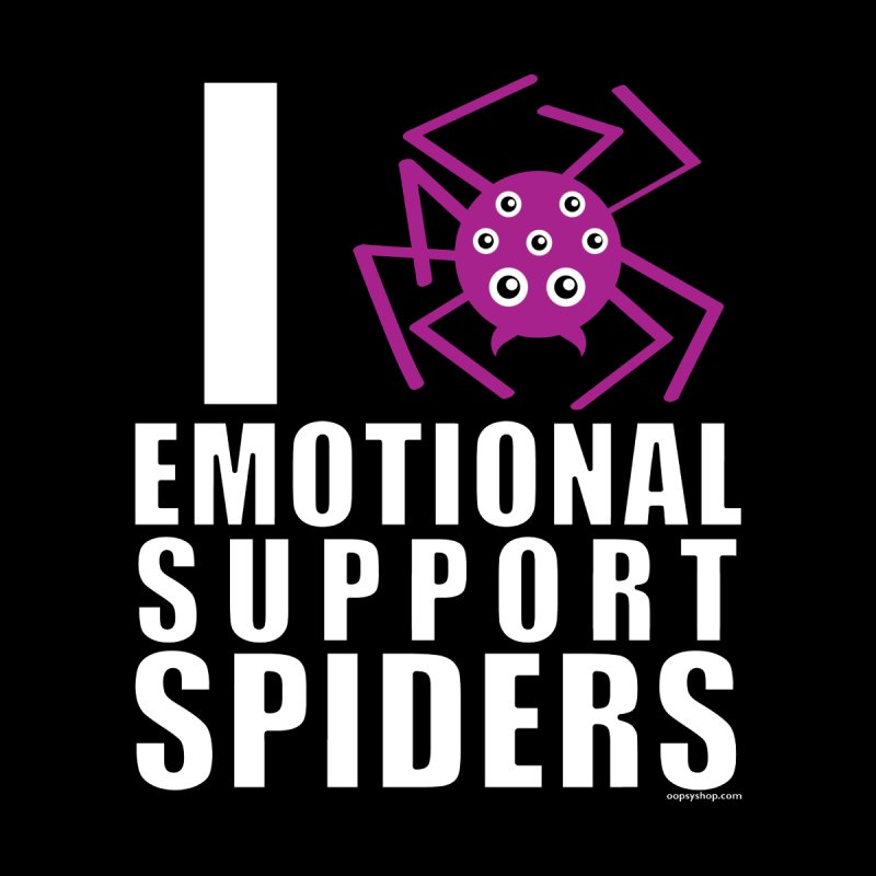 Emotional Support Spiders Men's T-Shirt by Oopsy Daisy