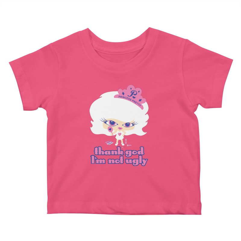 Thank God I'm Not Ugly Kids Baby T-Shirt by Oopsy Daisy