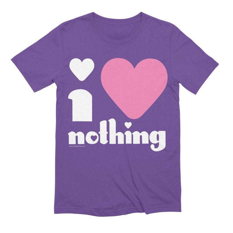 I Love Nothing Men's Extra Soft T-Shirt by Oopsy Daisy