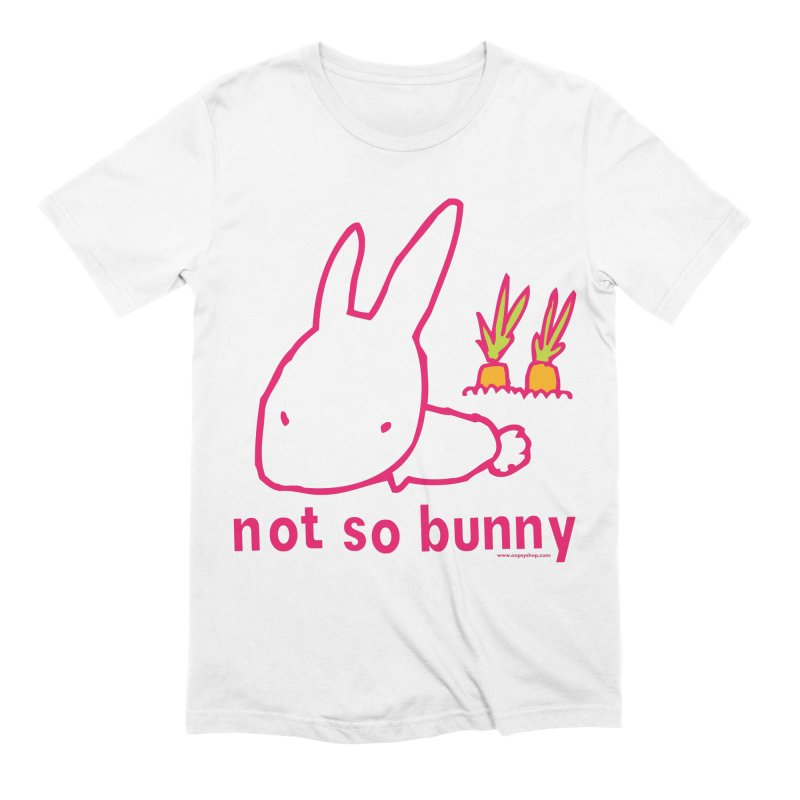 Not So Bunny Men's Extra Soft T-Shirt by Oopsy Daisy