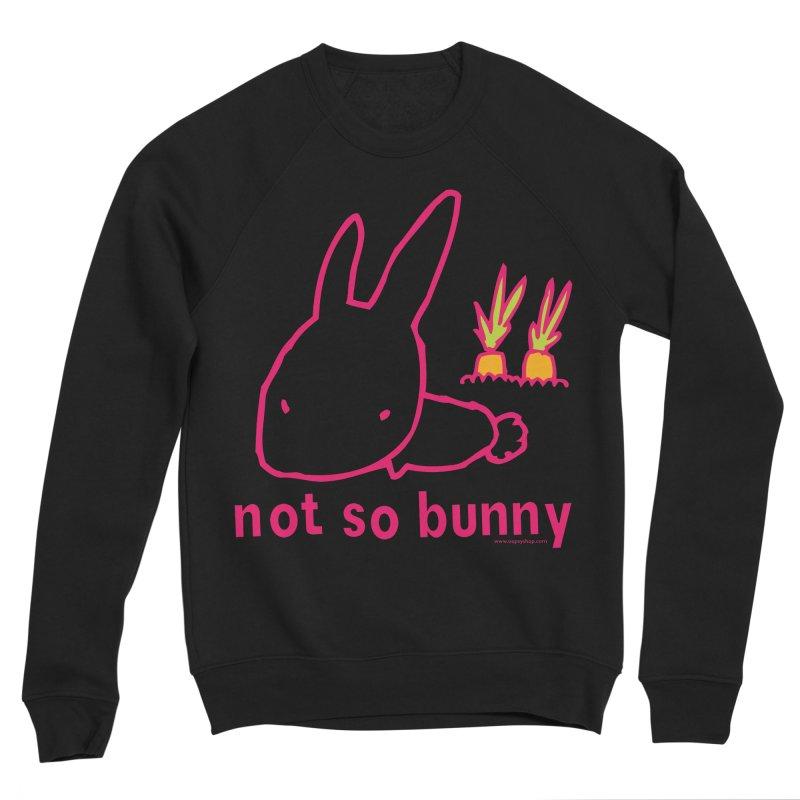 Not So Bunny Men's Sponge Fleece Sweatshirt by Oopsy Daisy
