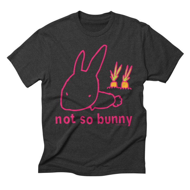 Not So Bunny Men's Triblend T-Shirt by Oopsy Daisy