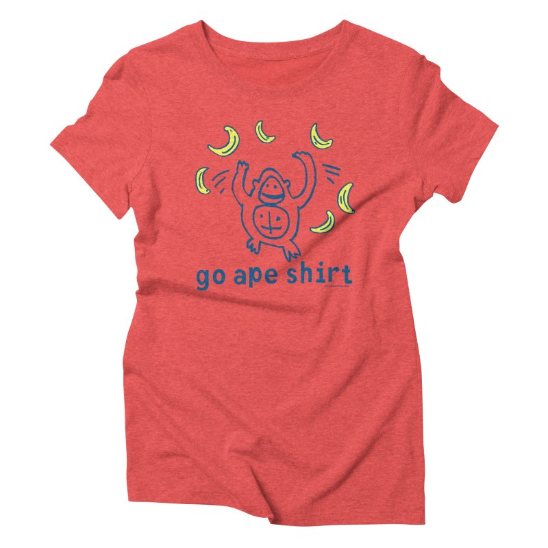 Go Ape Shirt Women's Triblend T-Shirt by Oopsy Daisy