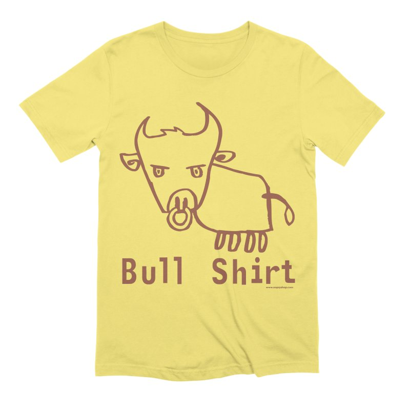 Bull Shirt Men's Extra Soft T-Shirt by Oopsy Daisy