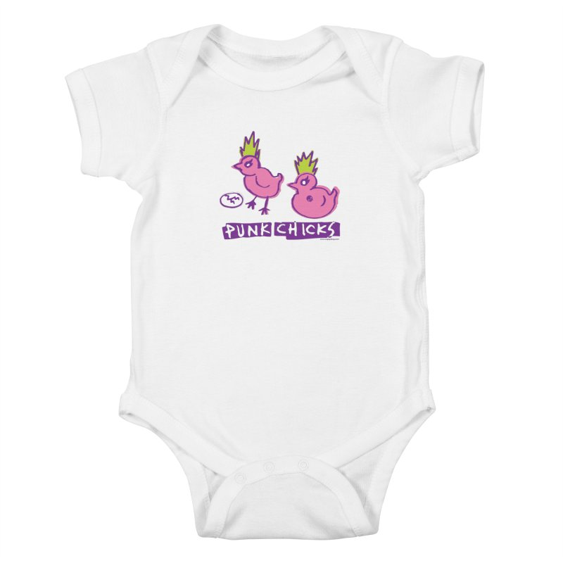 Punk Chicks Kids Baby Bodysuit by Oopsy Daisy