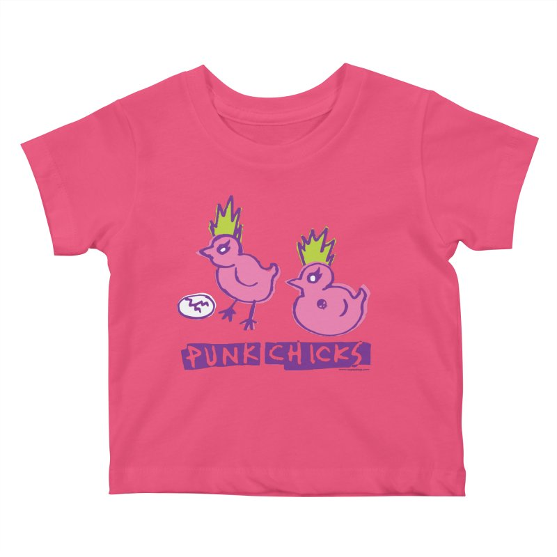 Punk Chicks Kids Baby T-Shirt by Oopsy Daisy