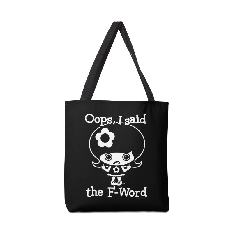 Oops, I said The F-Word (Flip Off) Accessories Tote Bag Bag by Oopsy Daisy