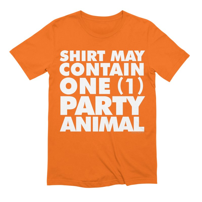 Shirt May Contain One Party Animal Men's T-Shirt by Oopsy's Shop