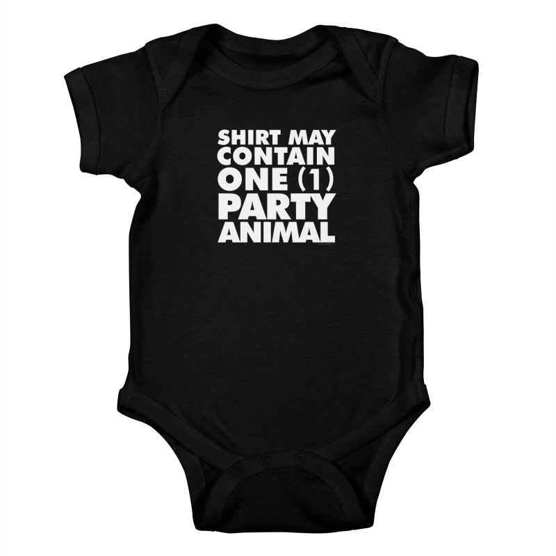 Shirt May Contain One Party Animal Kids Baby Bodysuit by Oopsy's Shop