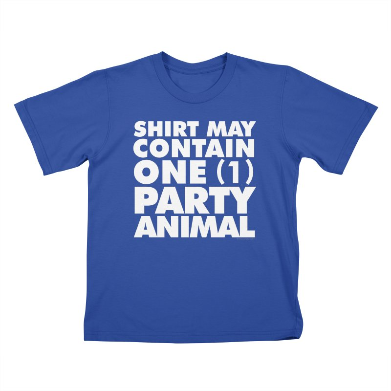 Shirt May Contain One Party Animal Kids T-Shirt by Oopsy's Shop