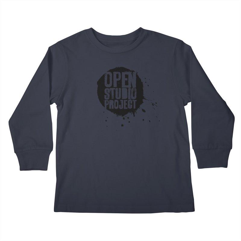OSP Logo (Black) Kids Longsleeve T-Shirt by openstudioproject's Artist Shop