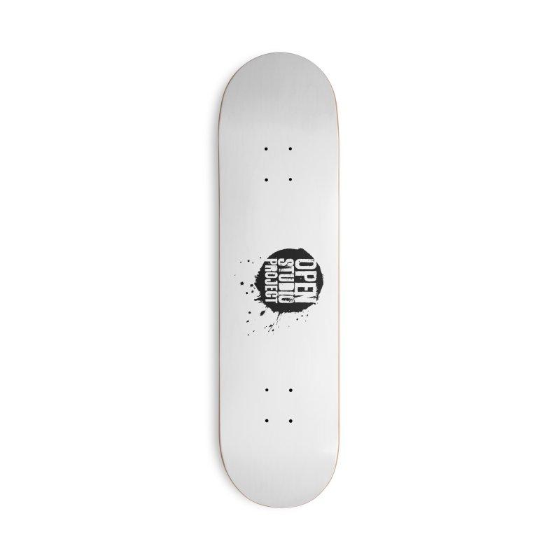 OSP Logo (Black) Accessories Skateboard by openstudioproject's Artist Shop