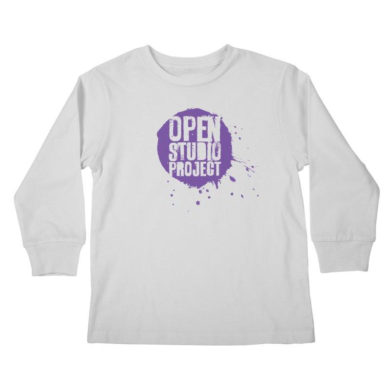 OSP Logo (Purple) Kids Longsleeve T-Shirt by openstudioproject's Artist Shop