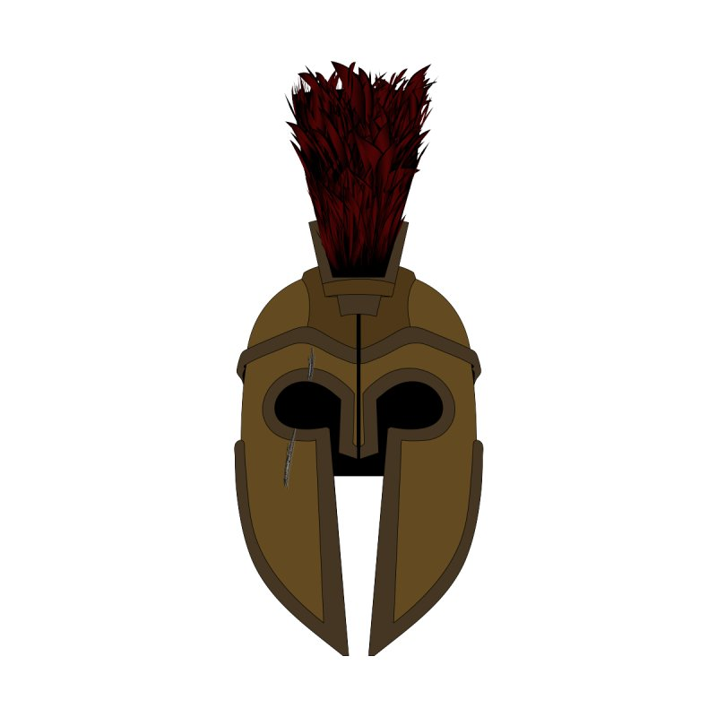Spartan Helmet (1 of 6 Warrior Collection) None  by openyourclosedmind Design's Artist Shop