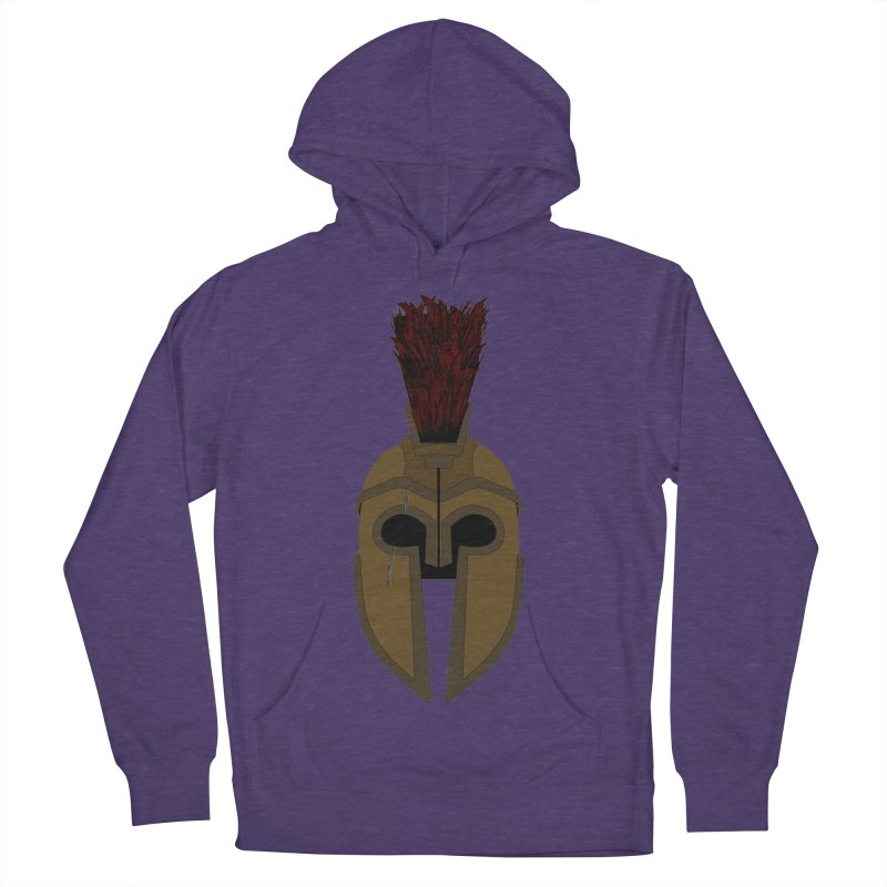 Spartan Helmet (1 of 6 Warrior Collection) Men's Pullover Hoody by openyourclosedmind Design's Artist Shop