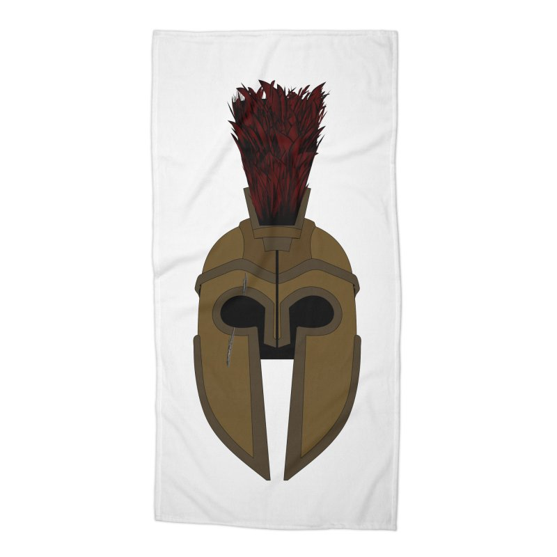 Spartan Helmet (1 of 6 Warrior Collection) Accessories Beach Towel by openyourclosedmind Design's Artist Shop