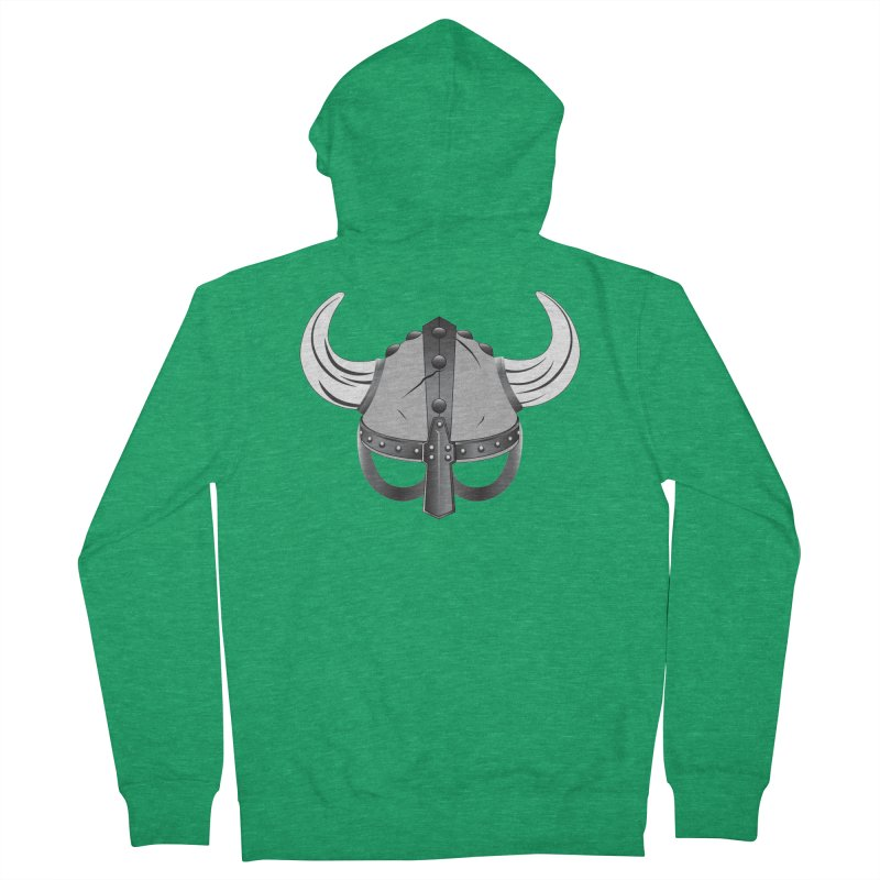 Viking Helmet (2 of 6 Warrior Collection) Men's Zip-Up Hoody by openyourclosedmind Design's Artist Shop
