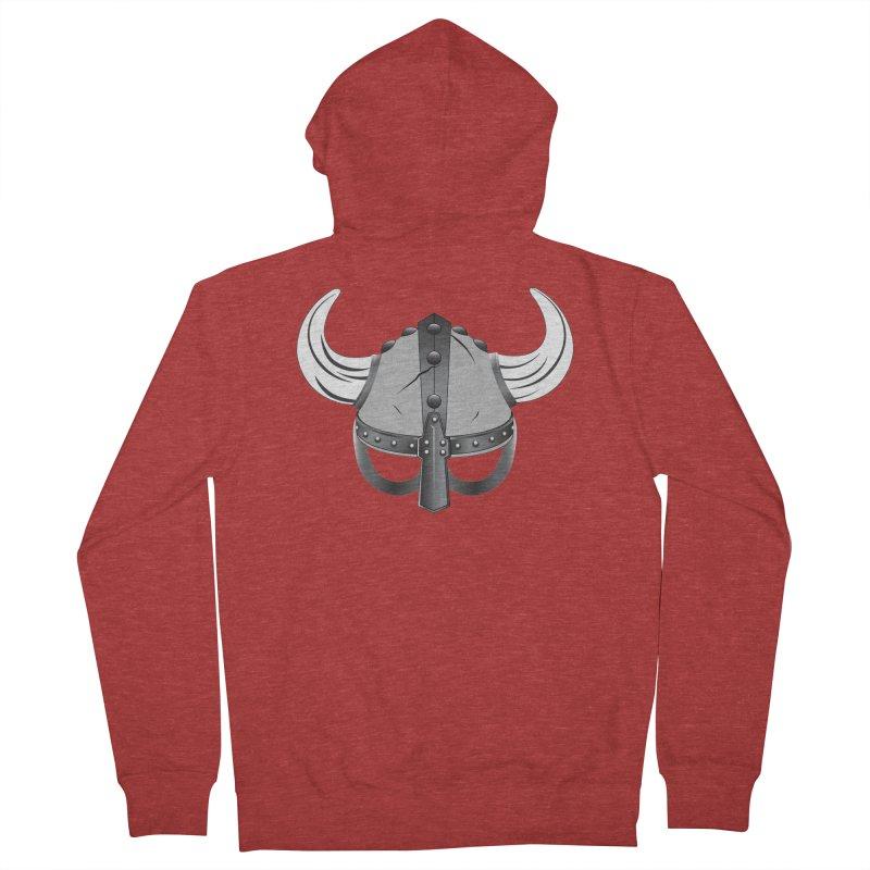 Viking Helmet (2 of 6 Warrior Collection) Men's Zip-Up Hoody by openyourclosedmind Design's Artist Shop