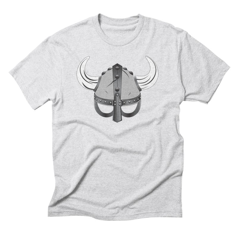 Viking Helmet (2 of 6 Warrior Collection) Men's Triblend T-shirt by openyourclosedmind Design's Artist Shop