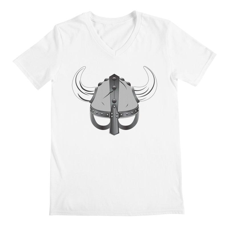Viking Helmet (2 of 6 Warrior Collection) Men's V-Neck by openyourclosedmind Design's Artist Shop