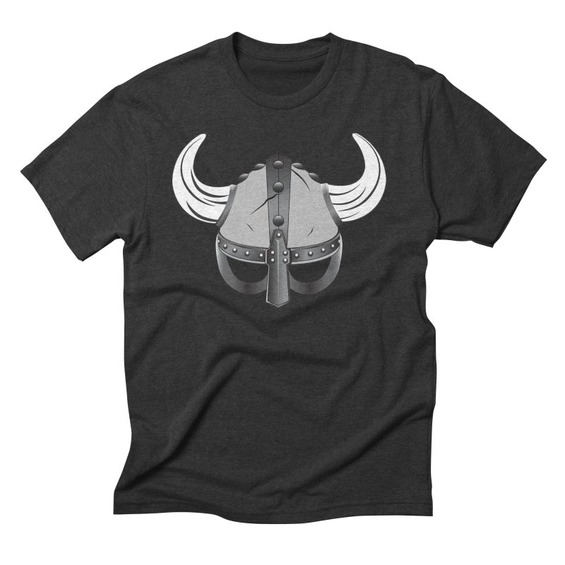 Viking Helmet (2 of 6 Warrior Collection) Men's Triblend T-shirt by openyourclosedmind Design's Artist Shop