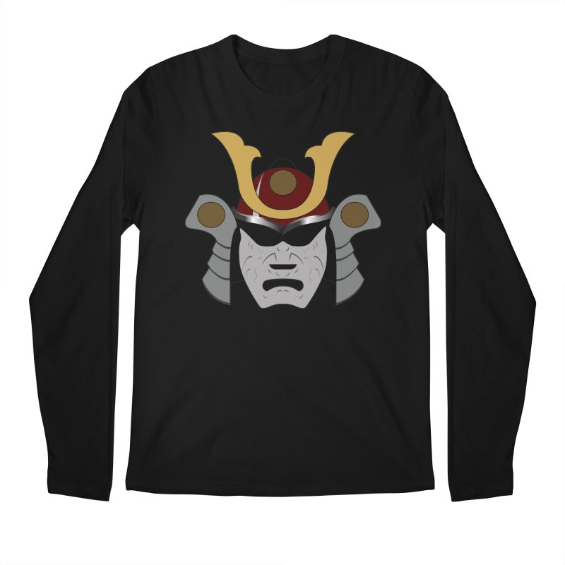 Samurai Helmet (3 of 6 Warrior Collection) Men's Longsleeve T-Shirt by openyourclosedmind Design's Artist Shop