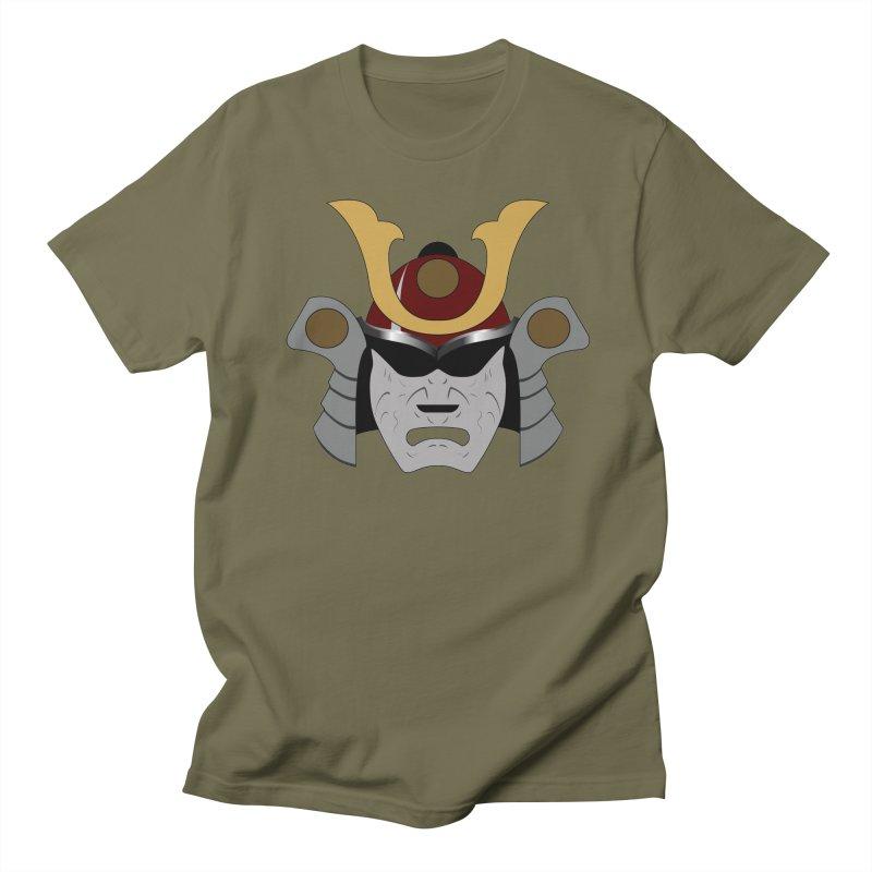 Samurai Helmet (3 of 6 Warrior Collection) Men's T-shirt by openyourclosedmind Design's Artist Shop