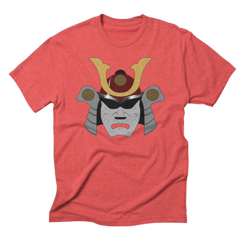 Samurai Helmet (3 of 6 Warrior Collection) Men's Triblend T-shirt by openyourclosedmind Design's Artist Shop