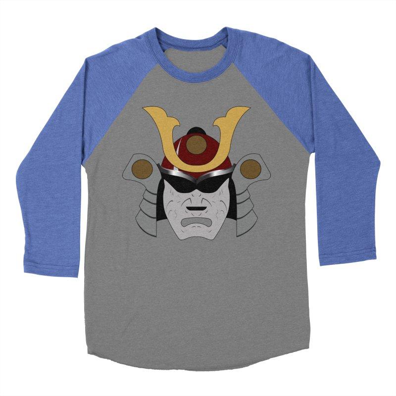 Samurai Helmet (3 of 6 Warrior Collection) Men's Baseball Triblend T-Shirt by openyourclosedmind Design's Artist Shop