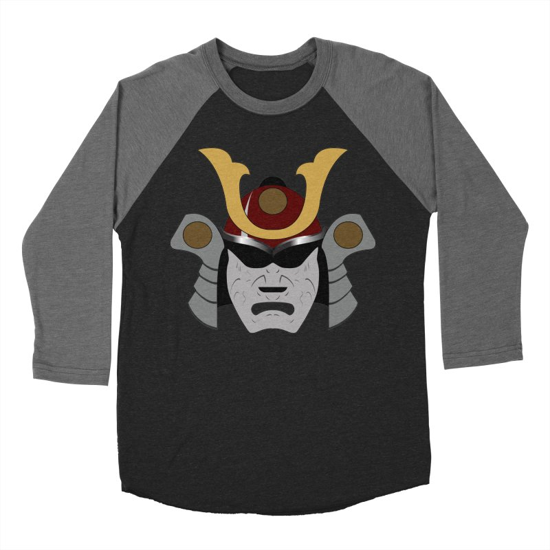 Samurai Helmet (3 of 6 Warrior Collection) Men's Baseball Triblend T-Shirt by openyourclosedmind Design's Artist Shop
